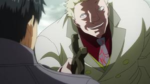 Yamori telling Amon that he is easily breakable