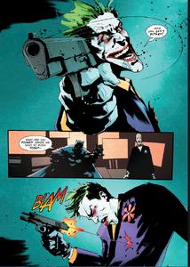 Joker shot himself.