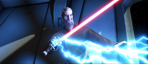 Count Dooku lightning aim
