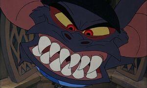 Fidget's evil grin