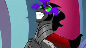 King Sombra bearing an evil grin S9E2