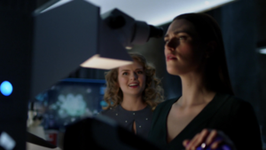 Eve working with Lena