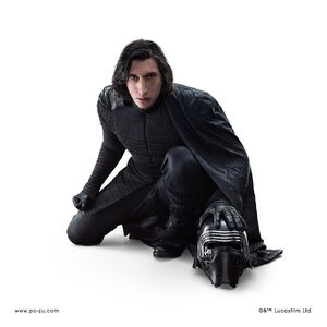 Kylo Ren on knees