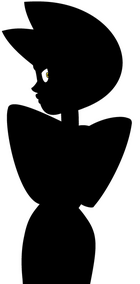 Silhouette of Yellow Diamond