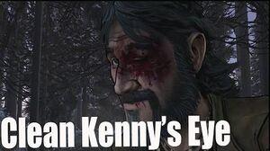 The Walking Dead Season 2 Episode 5 Clementine Cleans Kenny's Eye