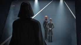 Darth Vader arrives