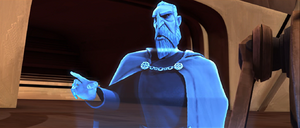 Count Dooku holo point