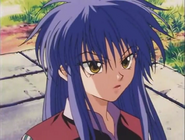 Machi with hair down