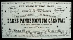Brian sibley something wicked this way comes darks pandemonium carnival flier