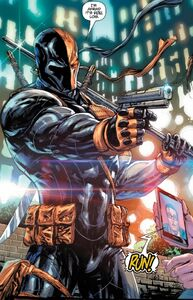 Deathstroke about shoot Lois