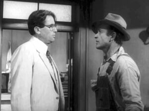 Bob Ewell and Atticus Finch