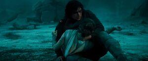 Ben holds Rey 2