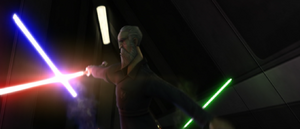 Count Dooku blocking