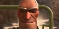 Hunter's evil grin