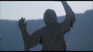 Cliff hardened into a statue