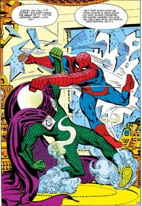Quentin Beck (Earth-616) vs. Peter Parker (Earth-616) from Amazing Spider-Man Annual Vol 1 1 001
