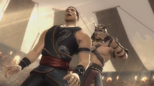 Shao Kahn kills Kung Lao