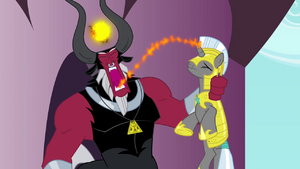 Tirek sucking away the guard's magic S4E26