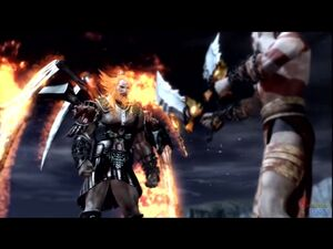 Ares confronting Kratos