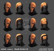 Arrow season2 deathstroke2 helmet development by andypoondesign-d73rg5i
