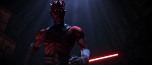 Darth Maul confronts