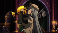 Esdeath drinking Demon's Extract