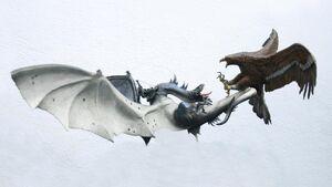Fell beast vs eagle diorama 2 by minas tirith hakan
