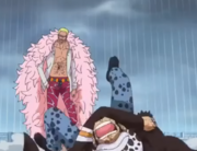 Doflamingo watching Law scream