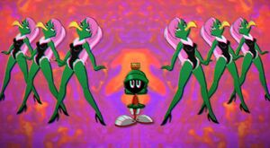 Marvin the Martian & the female Instant Martians