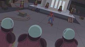 Spectacular Spider-Man (2008) Spider-Man vs Mysterio lair fight part 3 3
