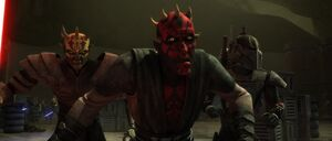 Darth Maul escaping