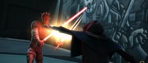 Maul Sidious duel