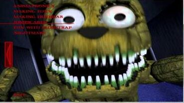 Plushtrap Jumpscare (Extra Menu) - Five Nights at Freddy's 4- The Final Chapter