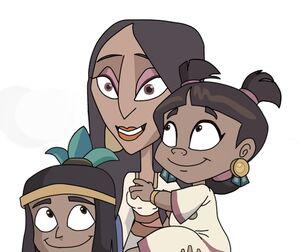 Yoltzin with her children