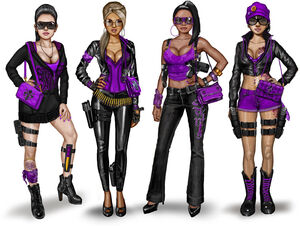 Gang Customization - Saints Row The Third Female Saints Concept Art