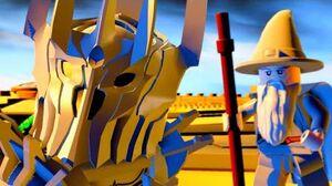 LEGO Dimensions Sauron Boss Fight