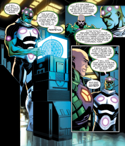 Brainiac and Lex Luthor