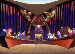 MEANWHILE, AT THE LEGION OF DOOM