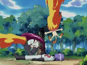 Meowth and Jessie's Firebreath