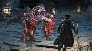 Bloodborne Blood-starved Beast Boss Fight (1080p)
