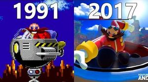 Evolution of Eggman in Sonic Games 1991-2017