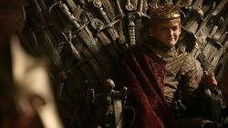 Joffrey Baratheon on the Iron Throne HBO