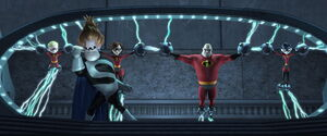 Syndrome revealing his plan to the Incredibles