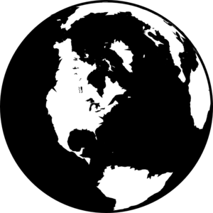 Black-and-white-globe-md