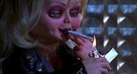 Tiffany smokes