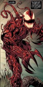 Edward Brock (Earth-616) and Grendel (Klyntar) (Earth-616) from Venom Vol 4 24 001