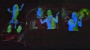 First Look New Haunted Mansion mirror effect with animated Hitchhiking Ghosts at Walt Disney World