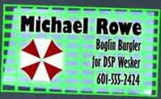 Michael Rowe's business card