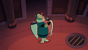 S1e1 buff frog stands straight