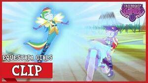 The Tri-Cross Relay Rainbow Dash's Loyalty MLP Equestria Girls Friendship Games! HD